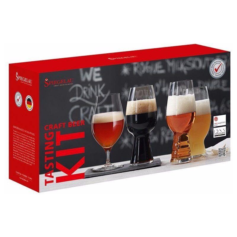Spiegelau Craft Beer Tasting Kit: IPA. American Wheat Beer. Stout ja Barrel Aged Beer