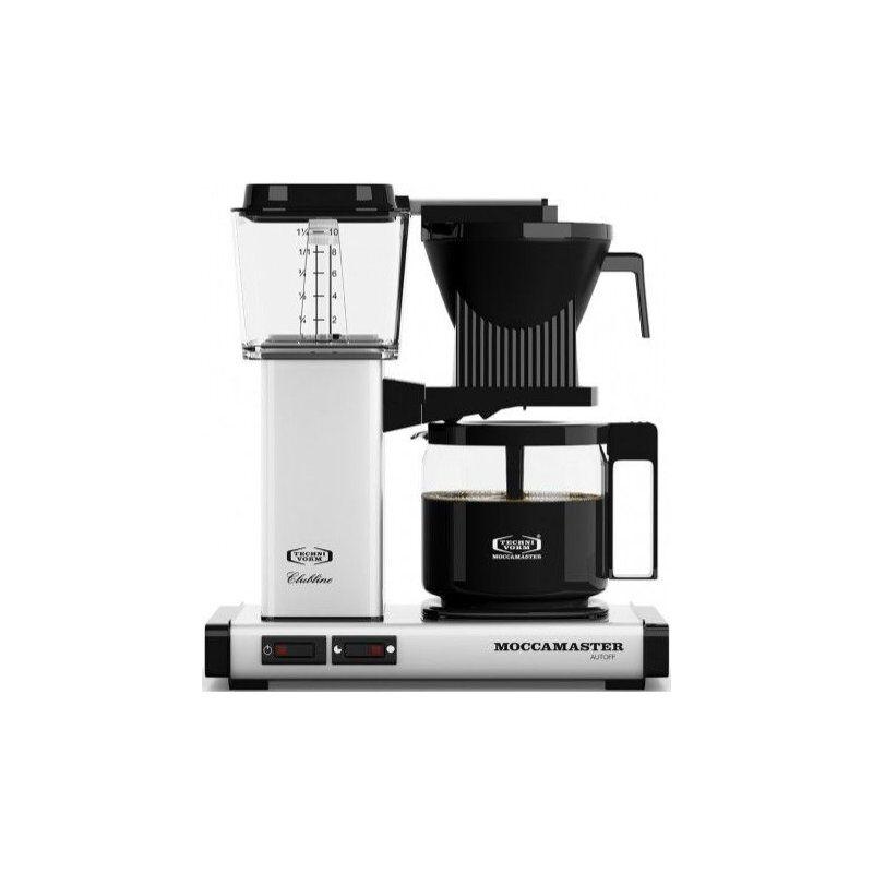 Moccamaster KBG962AO kahvinkeitin 10 kuppia. 1.25 l. valkoinen metallic