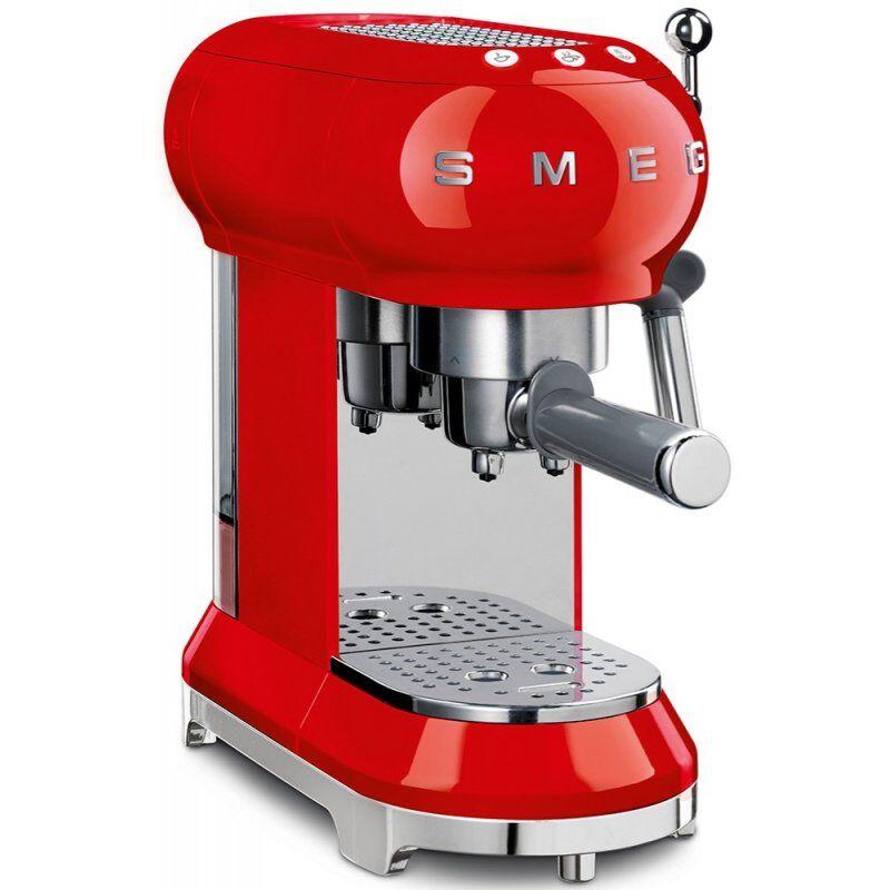 SMEG ECF01RDEU espressokeitin. punainen