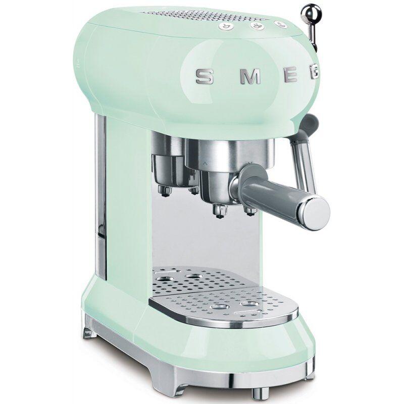 SMEG ECF01PGEU espressokeitin. pastellinvihreä
