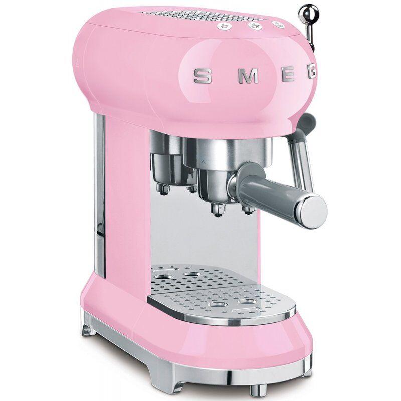 SMEG ECF01PKEU espressokeitin. vaaleanpunainen