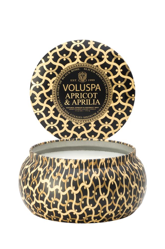 Voluspa Apricot & Aprilia - 2 Wick Maison Metallo Candle 50 h