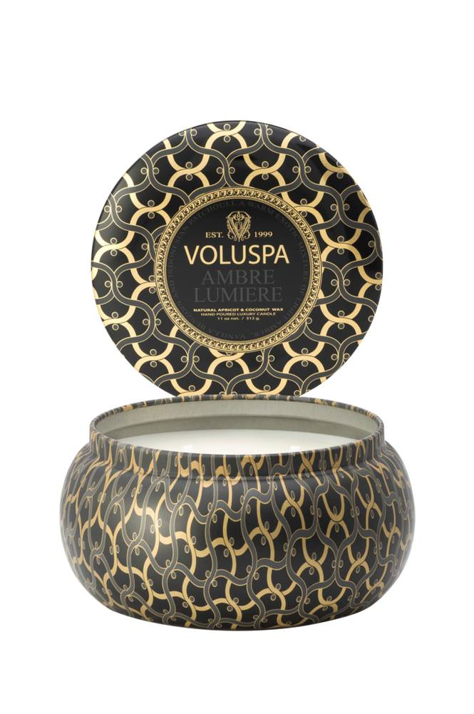 Voluspa Ambre Lumiere - 2 Wick Maison Metallo Candle 50 h