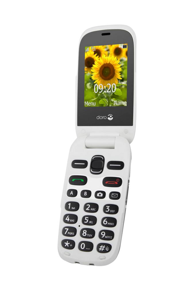 Doro 6031 matkapuhelin, harmaa/valkoinen