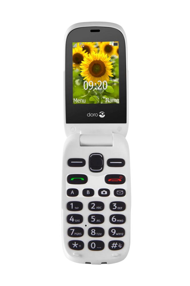Doro 6031 matkapuhelin, punainen/valkoinen