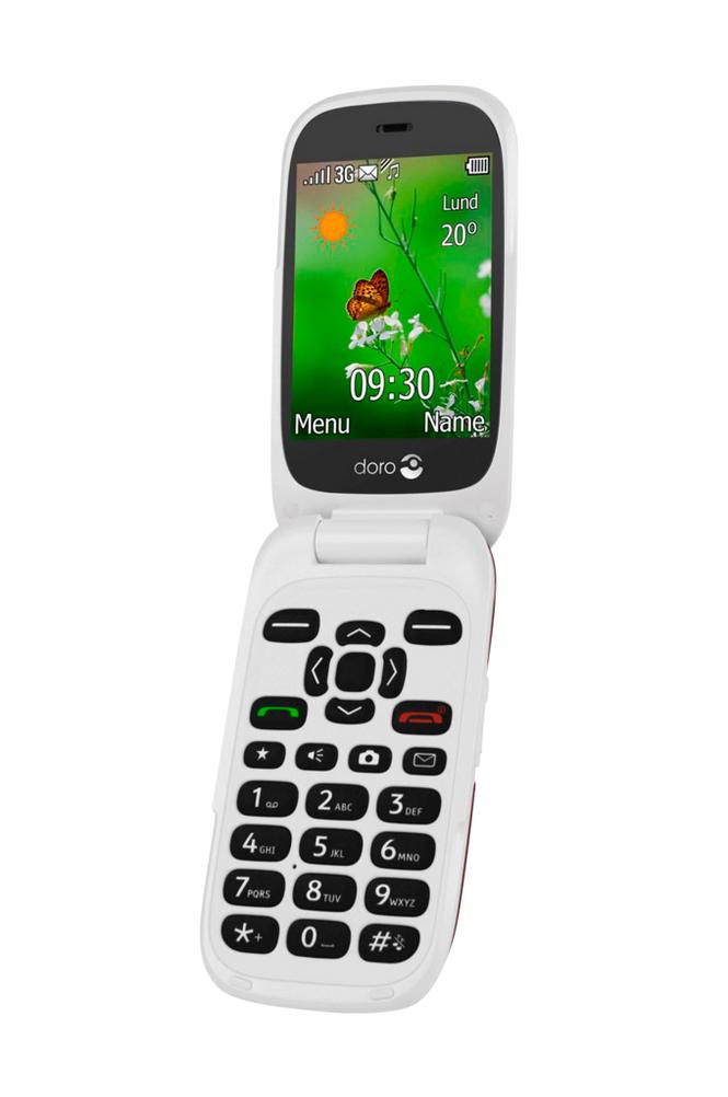 Doro 6531 3G-puhelin, punainen/valkoinen