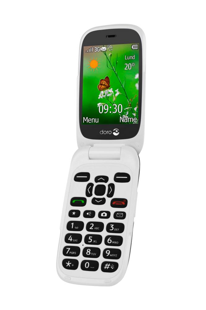 Doro 6531 3G-puheline, musta/valkoinen