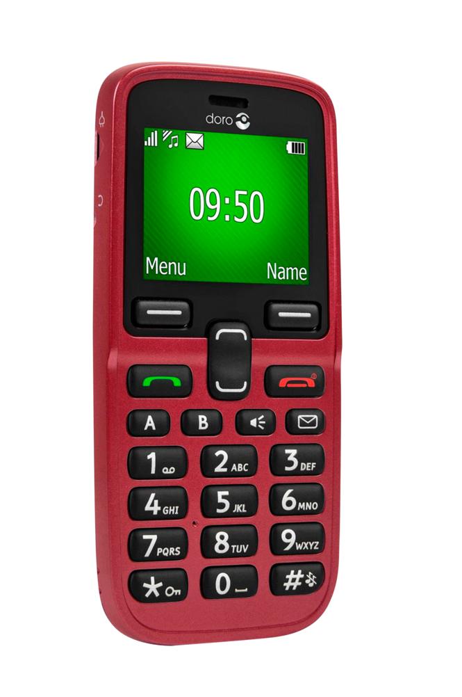 Doro 5031-matkapuhelin, punainen