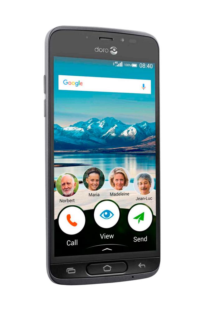 Doro 8040 4G-älypuhelin Graphite