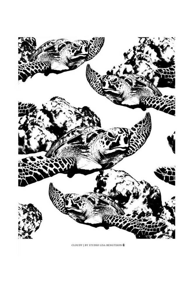 Studio Lisa Bengtsson Cloudy-juliste 50x70