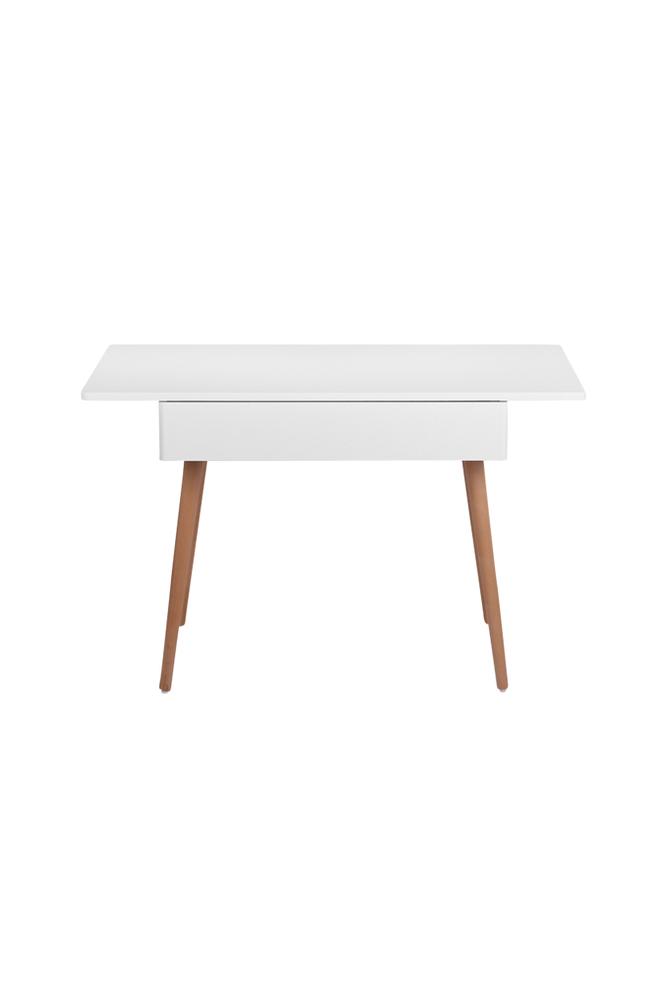Troll Kirjoituspöytä, valkoinen/tiikki