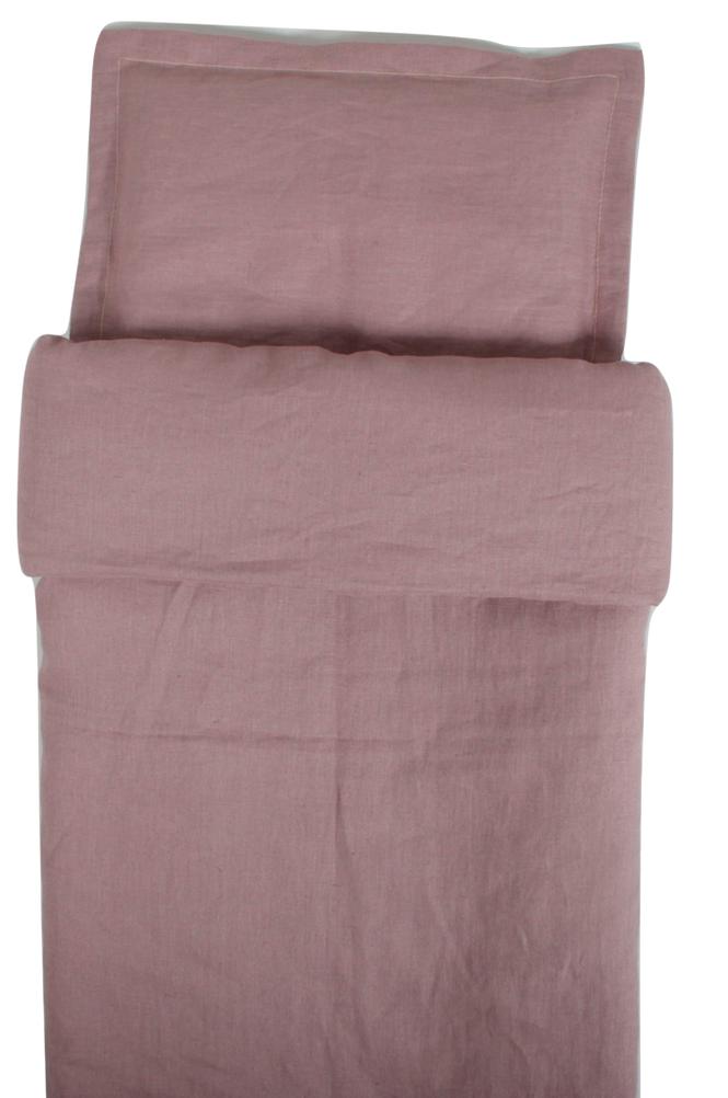 NG Baby Dusty Pink -pussilakana pinnasänkyyn 100 x 130 cm