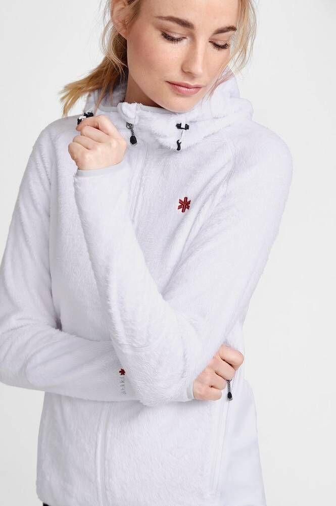 Áhkká Russna W Fleece Hoodie -takki, jossa huppu