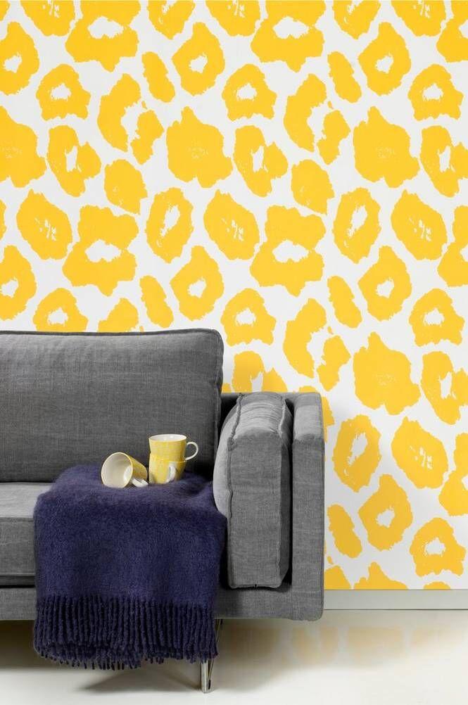 Studio Lisa Bengtsson Cleo-paperitapetti, keltainen