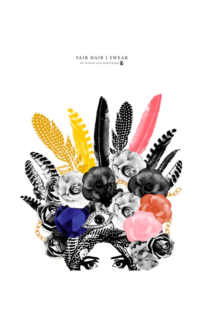 Studio Lisa Bengtsson Fair Hair I Swear -juliste, 50x70 cm
