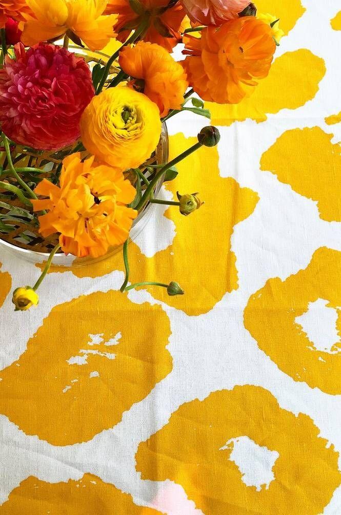 Studio Lisa Bengtsson Cleo-pöytäliina, keltainen