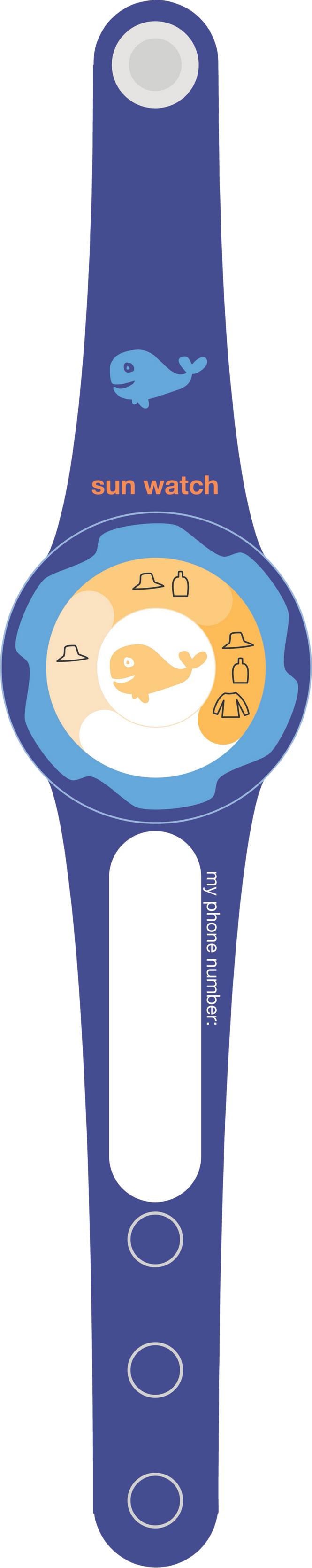 Zunblock UV kello