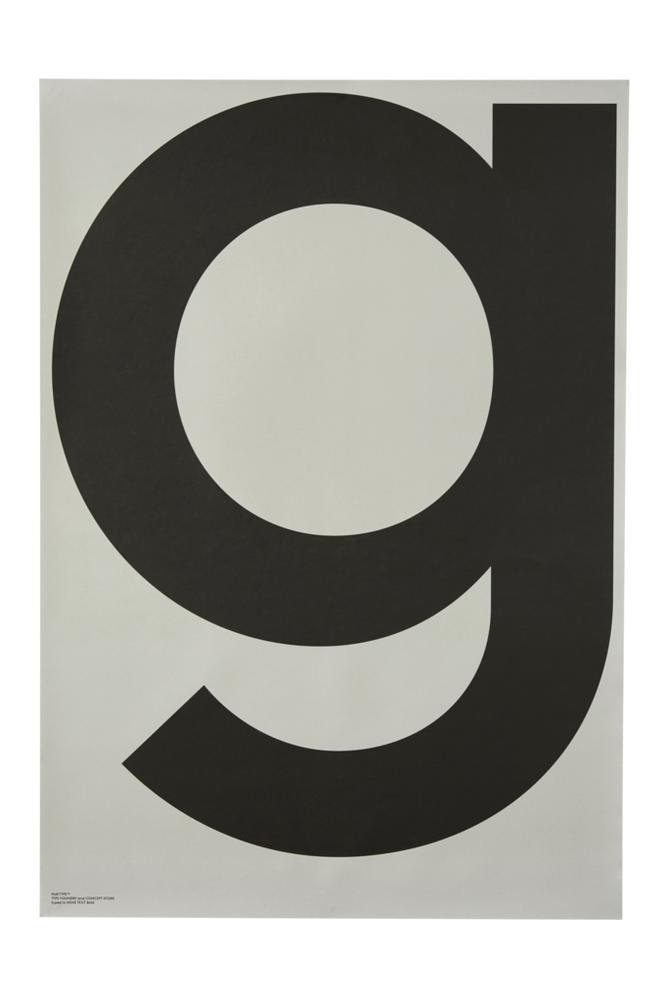 Playtype G-Grey-juliste 70x100 cm