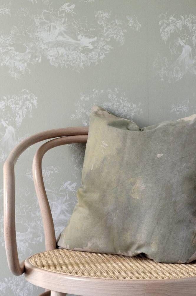 Mimou Käsinpainettu Paint-koristetyyny