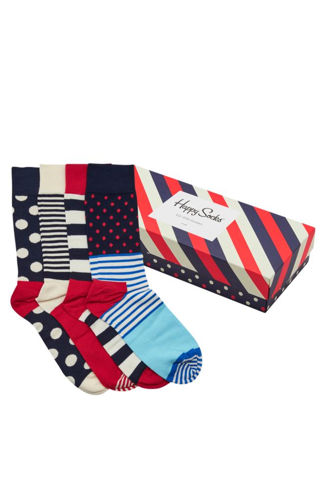 Happy Socks Sukat, 4 paria lahjapakkauksessa