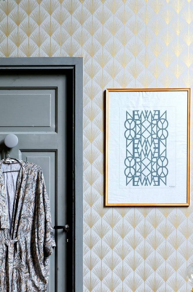 Mimou Käsinpainettu New York Peace -juliste 50x70 cm