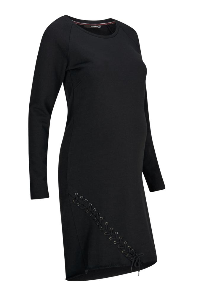 Supermom Dress ls Sweat Lace Up -äitiysmekko