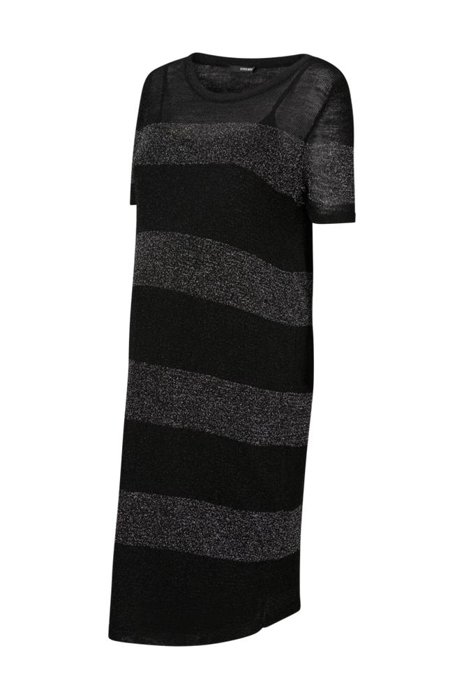 Supermom Black Stripe -äitiysmekko