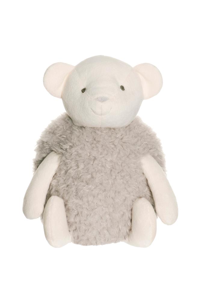 Teddykompaniet Nalle Fluffie -pehmoeläin, harmaa/valkoinen