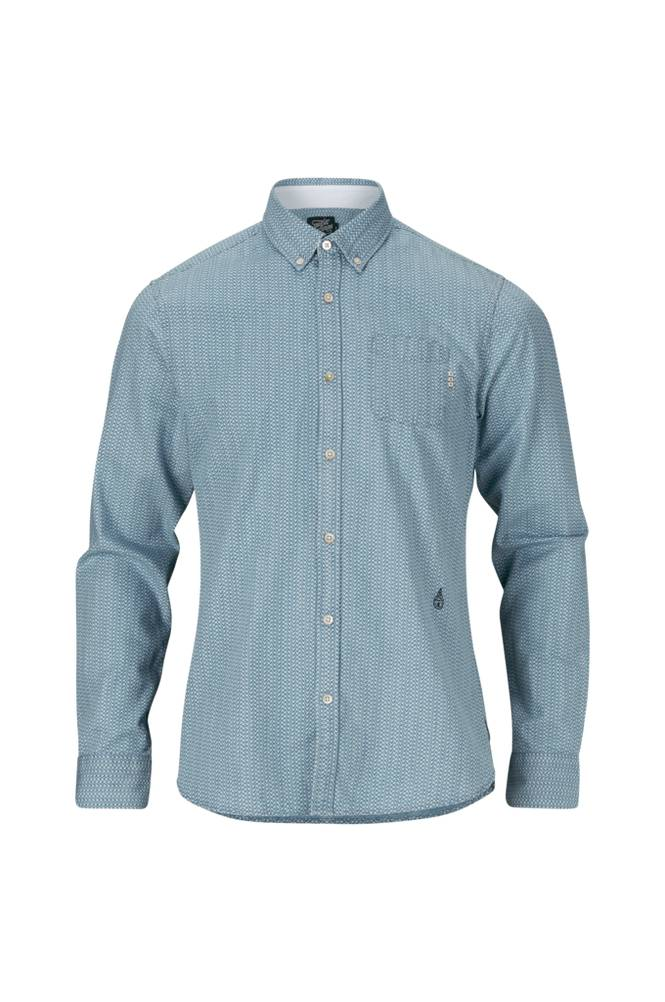 Scotch & Soda Mini-Artwork Shirt -kauluspaita, slim fit