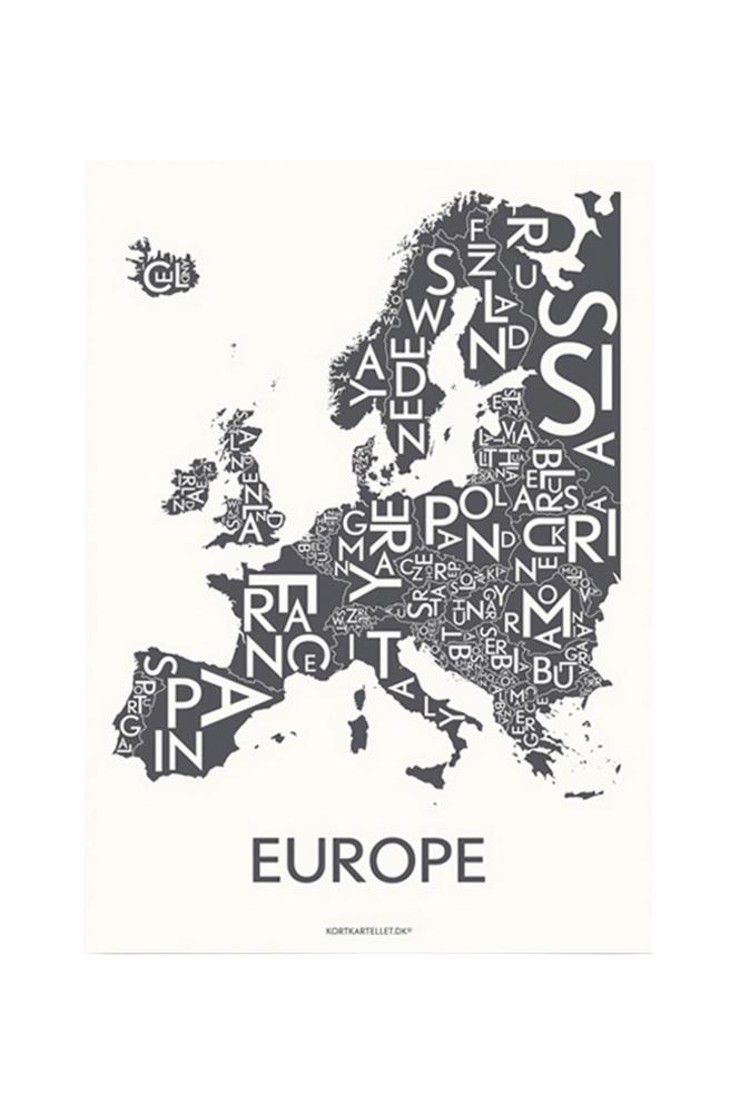 Kortkartellet Europé-juliste 50x70 cm