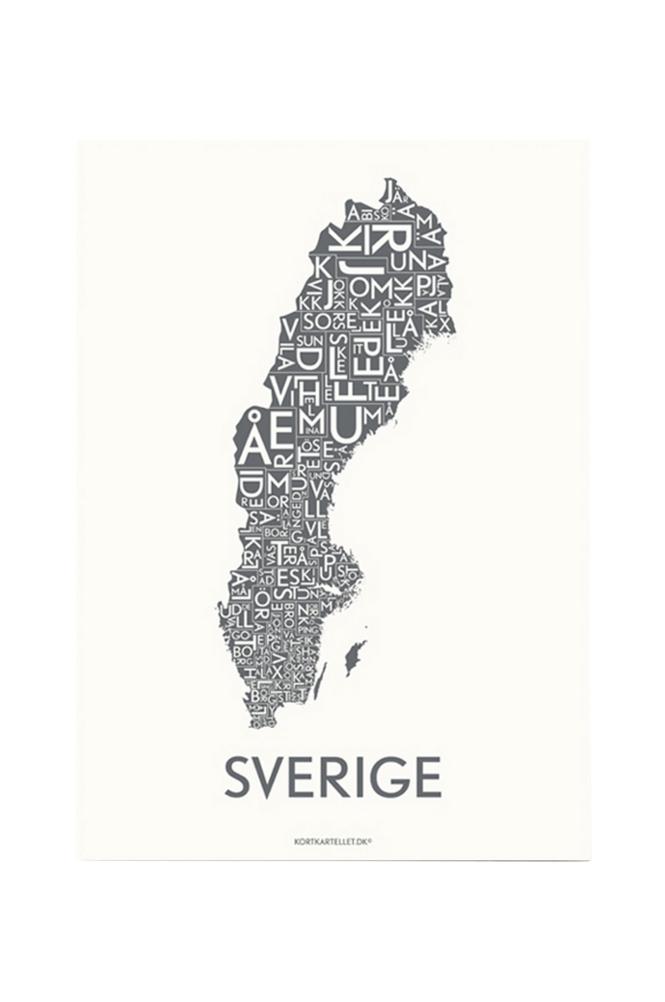 Kortkartellet Sverige-juliste 50x70 cm