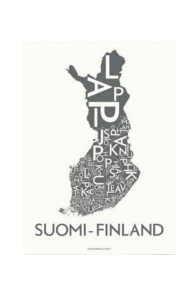 Kortkartellet Suomi-Finland-juliste 50x70 cm