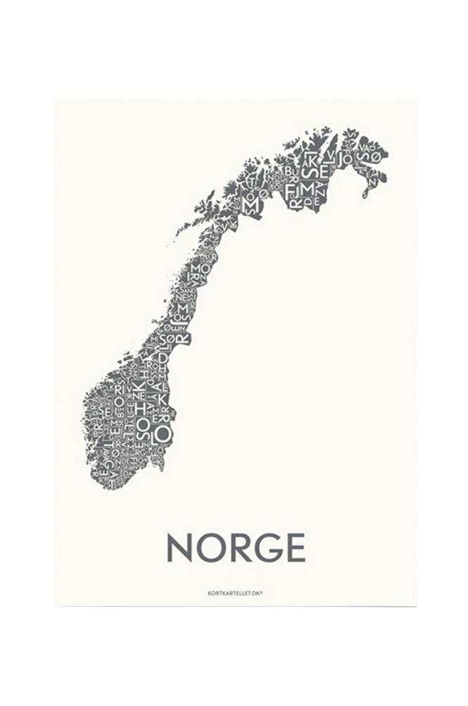 Kortkartellet Norja juliste 50x70 cm