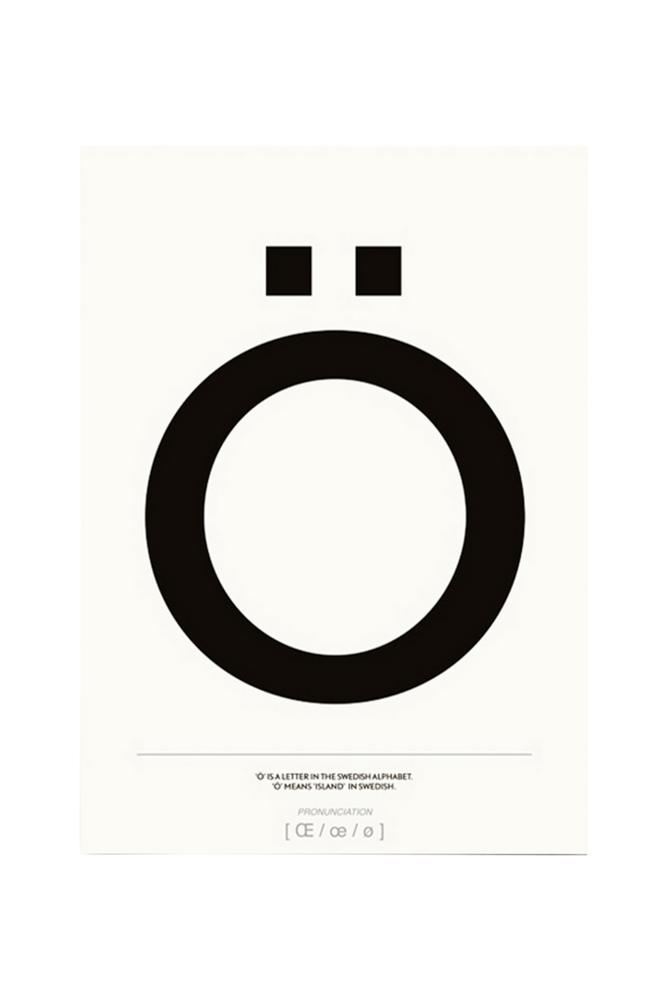 Kortkartellet Ö-juliste 50x70 cm