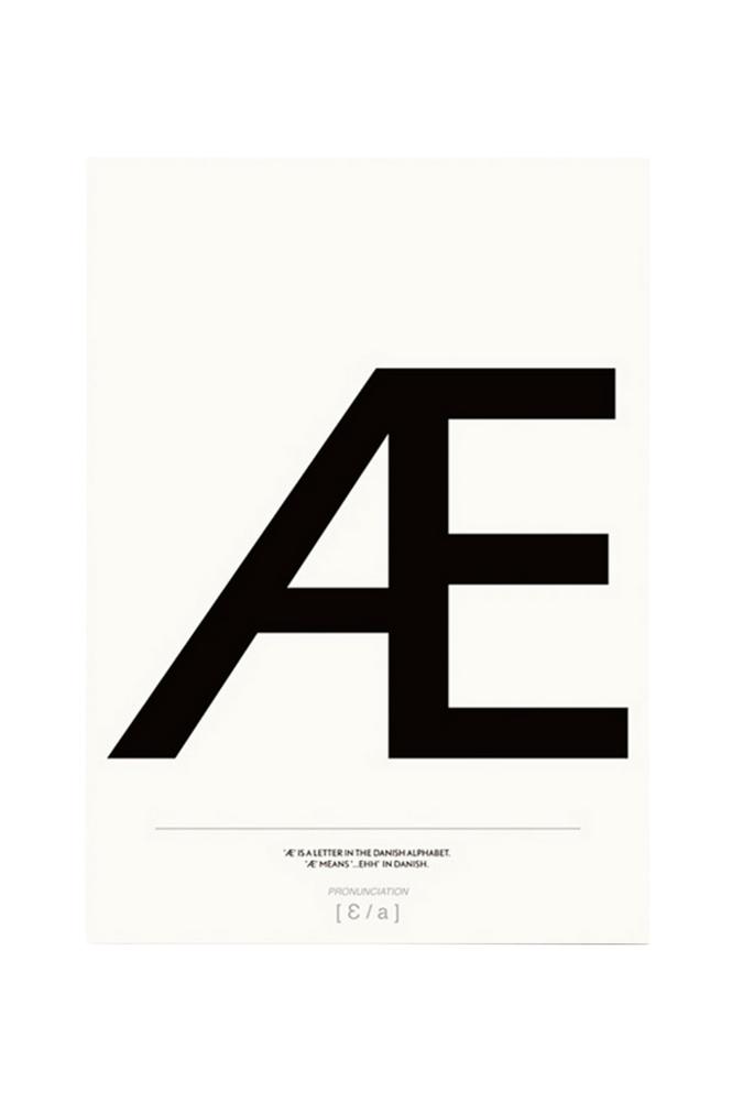 Kortkartellet Æ-juliste 50x70 cm