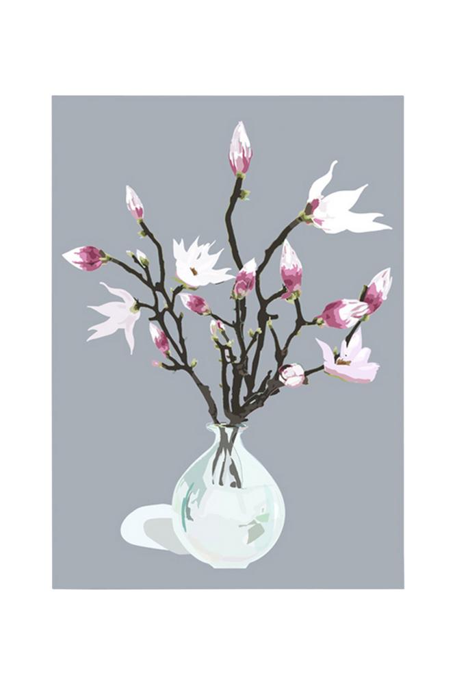 Kortkartellet Magnolia Grey juliste A3