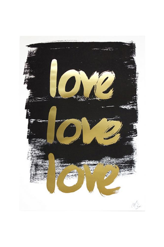 Kortkartellet Love Love Love juliste A3