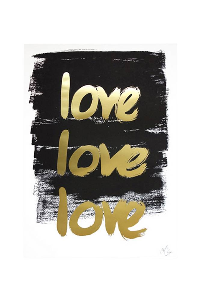 Kortkartellet Love Love Love -juliste A3