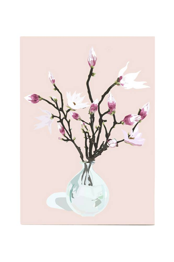 Kortkartellet Magnolia Dusty Rose -juliste A3