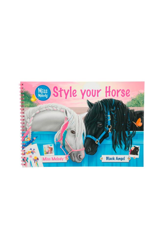 miss melody Style your Horse -värityskirja