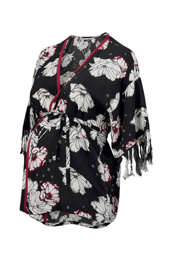 Supermom Kimono Flower -äitiyspaita