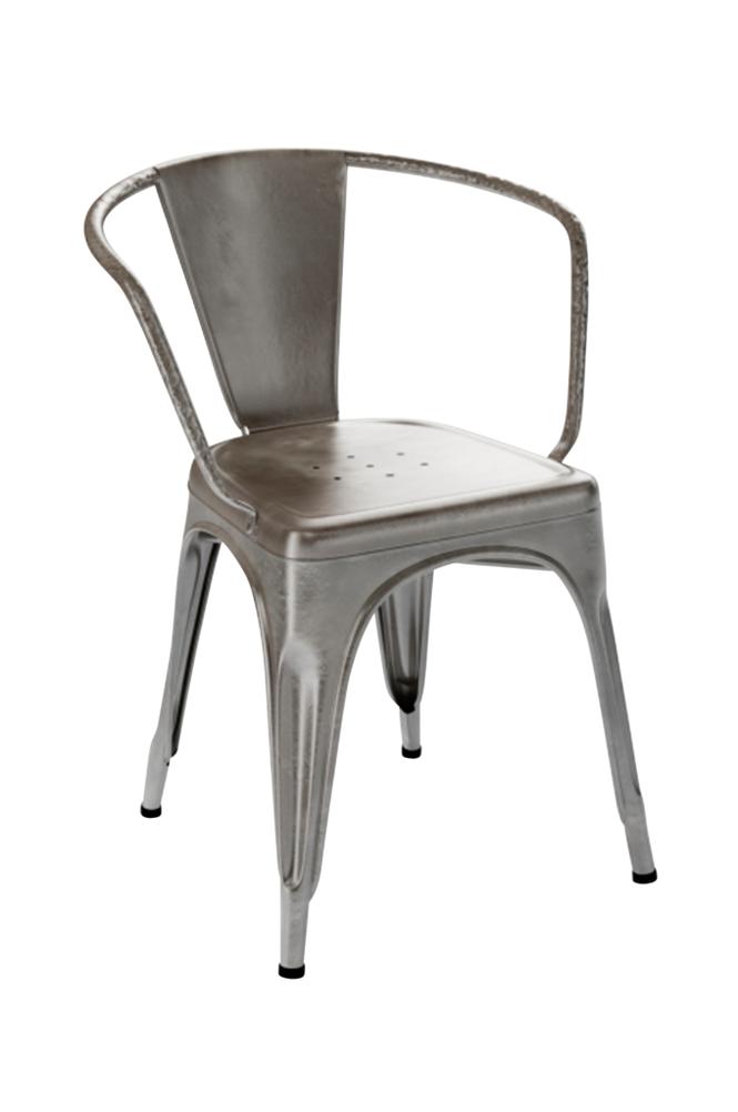 Tolix A56 -tuoli, jossa käsinoja