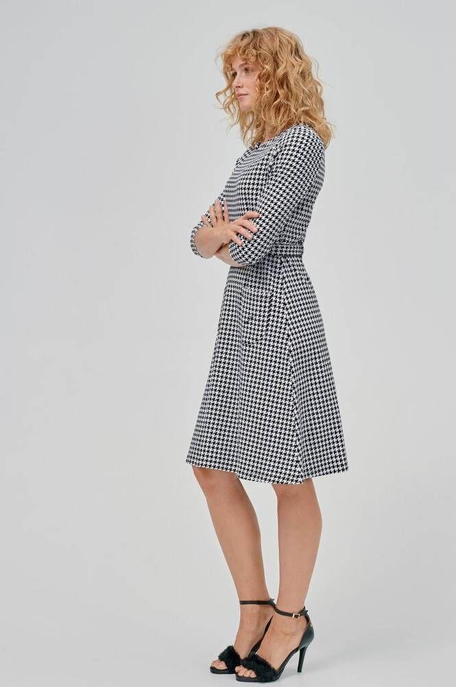 Jumperfabriken Perry Dogtooth Dress -mekko