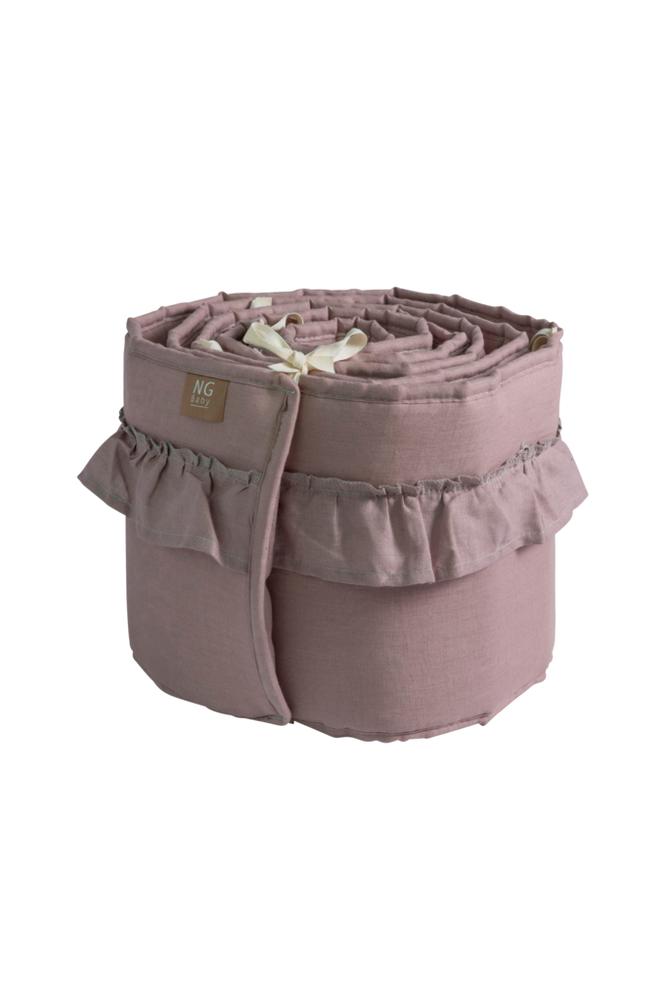 NG Baby Volang Dusty Pink -pinnasuoja pinnasänkyyn