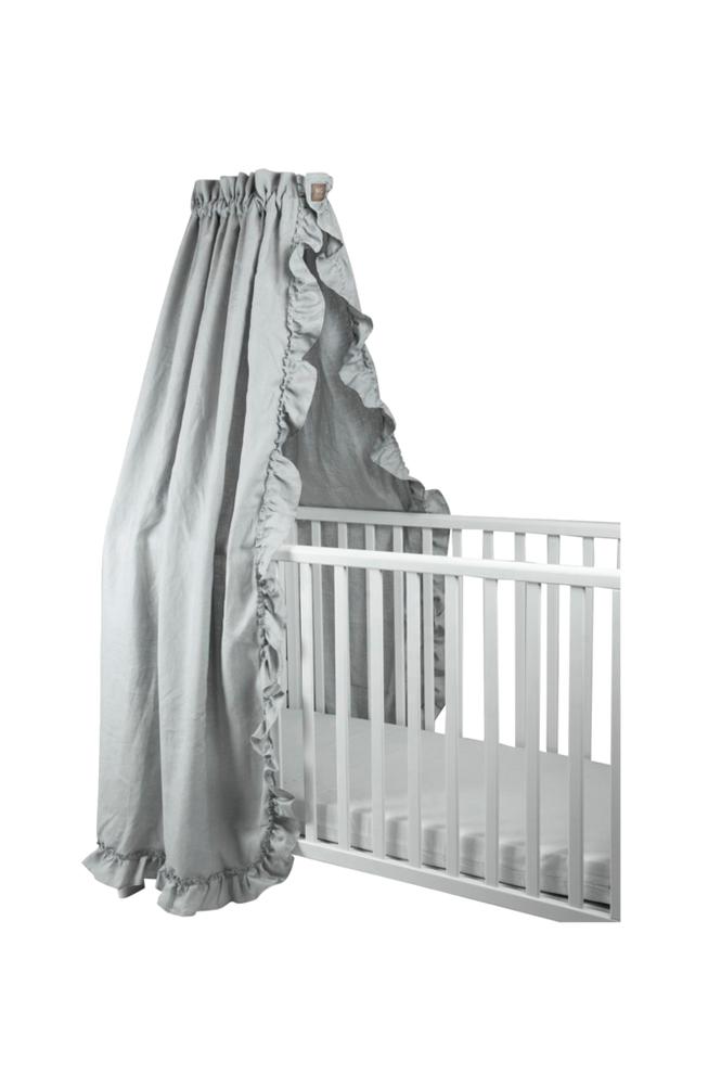 NG Baby Volang Light Grey -sänkykatos pinnasänkyyn