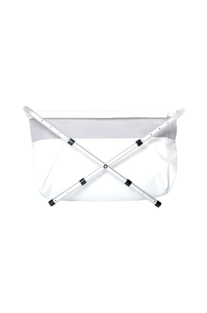 BiBaBad Flexi-kylpyamme, 70-90 cm, hopeanvärinen