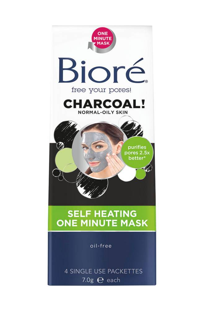 Bioré Self Heating One Minute Mask (4 packettes)