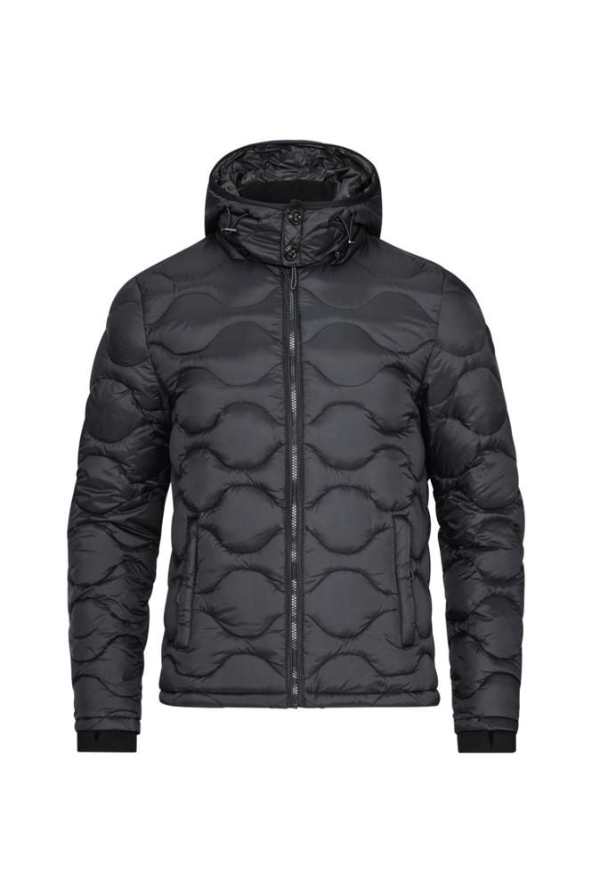 Dstrezzed Hooded Down Jacket Dense Nylon -untuvatakki
