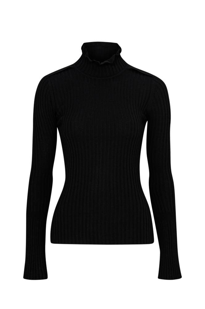 Hunkydory Eva Rib Knit Sweater -pooloneulepusero