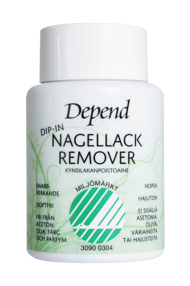 Depend Remover Dip In -kynsilakanpoistoaine, ympäristömerkitty 75 ml